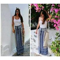 Falda Marca Zara Talla M Larga Azul Marino