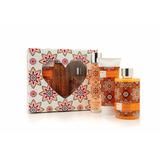 Set Mujer Regalo Felicidad Perfume, Gel De Ducha, Crema