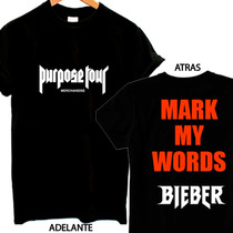 Playeras Justin Bieber Purpose Tour