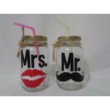 Vasos De Vidrios Vintage Personalizados