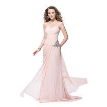 Baituya Vestido De Boda De Piesta De Chifon Largo Rosa