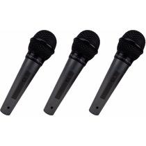 Kit De 3 Microfones C/ Fio Kadosh Kds-300