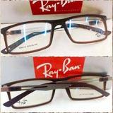 Rb8452 Armação Esportiva Óculos Receituário Marrom+case