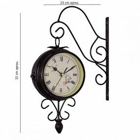 Reloj Doble Vintage, Tipo Bandera Dos Vistas Color Cafe