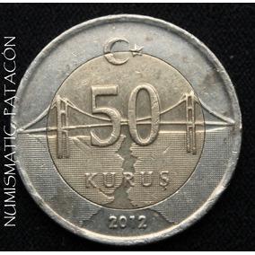 Moneda Turquia - 50 Kurus Lira Turca 2012 - Muy Buena