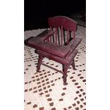 Pequena Cadeira De Criança Casa De Bonecas
