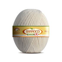 Barbante Barroco Natural Nº6 - Kit 3 Unidades