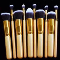Kit De Pinceis 10 Pcs Kabuki E Precisao Pronta Entrega