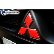 Aplique Vermelho Emblema Tr4 Mitsubishi  2010 A 14