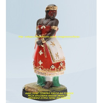 Escultura Orixa Africano Iansã Linda Imagem 40cm Fabrica Ml
