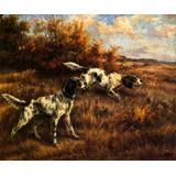 Cães De Caça Cheiro Farejando Por Edmund Osthaus Tela Repro