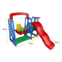 Playground Completo 3x1 Criança Feliz C/ Escorregador, Ba...