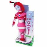 Mascote De Pelúcia Polieste Robô Dina Novela Morde E Assopra
