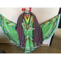 Vestido Jalisco Fiestas Patrias 16 Sep Méx Niña Envio Grati