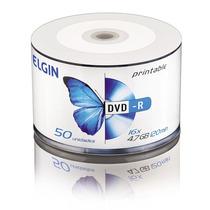 Kit 50 Dvd -r Elgin 4.7 Gb 16x Print + 400 Ml De Tinta P/ Hp