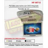 Pantalla Techo 12 Plgadas Con Dvd Usb Hfmt12