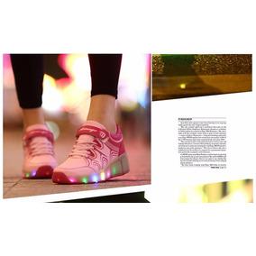 Zapatos Ruedita Con Alas Y Luces Led (hay Stock)