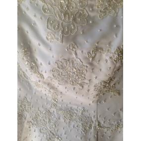 Vestido De Novia Strapless, Marca Pronuptia Paris