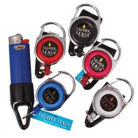 Porta Isqueiro Pequeno Retrátil Lighter Leash Premium