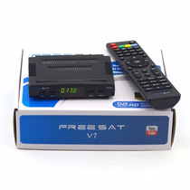 Freesat V7,equipo Satelital+ Wifi+ 3 Meses Azul O Rojo.
