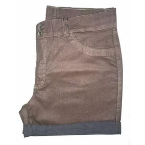 Short Feminino Metalizado Plus Size Pequeno Defeito 46 9014