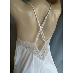 Camisola Longa Demillus Branca Moda Íntima Promoção