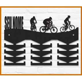 Porta Medalhas Mountain Bike Mdf Personalizado Com Nome