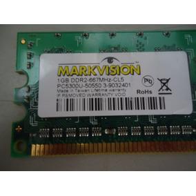 Memória Markvision 1 Gb Ddr2 667 Mhz Para Pcs Com Garantia