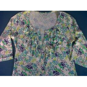 Saco Cardigan Camperita Sweater Con Botones Modal Talle M