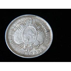 Moneda De Bolivia , De 50 Centavos Año 1899