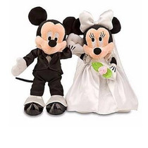 Disney Pelúcia Mickey E Minnie Noivos Original Disney Parks