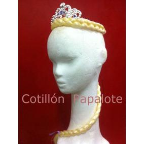 Frozen Elsa Trenza Corona Aplique Anna Disfraz Princesa