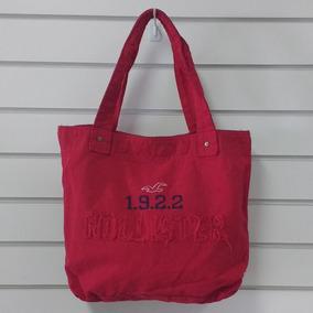 Bolsa Hollister Feminina Escolar Sacola Modelos Vermelha