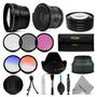 58mm Lente Hd Y Kit De Filtro + Accesorios Para Canon Eos 11
