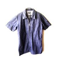 Camisa Jeans G-star Con Cierre Y Manga Corta