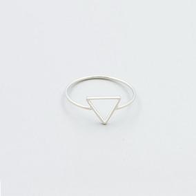 Anillo Plata 925 Cromado En Forma De Diamante 1,7 Diametro