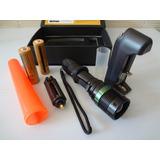Lanterna Tatica Led 28000w C/ Zoom+carregador+bat+acessórios