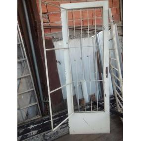 Porta Ferro Usada Com Postigo - 2,17x71 Material Demolição