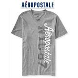 Camiseta Gola V Cinza Aeropostale Modelo 6832 - Leilao