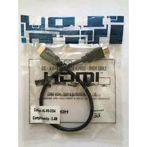 Cabo Hdmi 40cm 1080p 3d Full Hd Para Tv Monitor Led Lcd Ps3