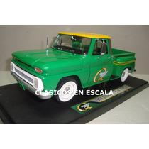 Chevroler C-10 Stepside 1965 Pick Up Verde - Greenlight 1/18