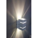 Kit 10 Arandela Dois Focos Luz Indireta Alumínio + Led