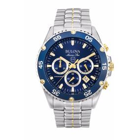 Relógio Bulova Masculino Marine Star Wb30686a Azul Oferta