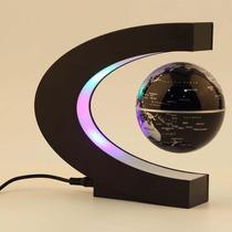 Globo Terrestre Flutuante Magnético - Preto