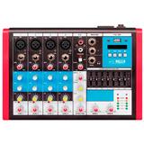 Mesa De Som Mc6 Eux Mixer 6 Canais Usb Equalizador Soundvoic