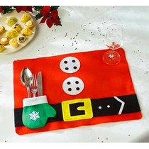 Mantel Individual Mantelitos Navidad, Navideños Santaclos