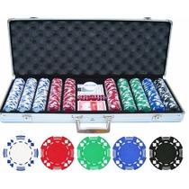 Maletin De 500 Fichas Profesionales De Poker