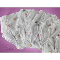 Calça Plástica Enxuta Bebê Com 2 Forros Estampada