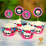 Moldes Cupcakes Monster High