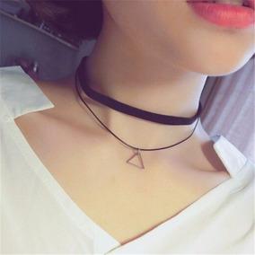 Collar Choker Gargantilla Triángulo Bisutería Vintage